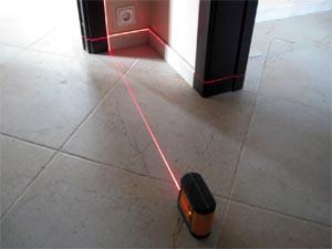 Установка нулевого уровня с помощью лазерного инструмента