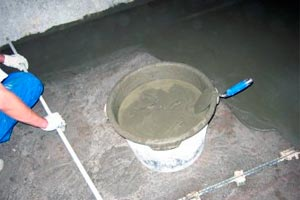 Верхний слой стяжки без керамзита
