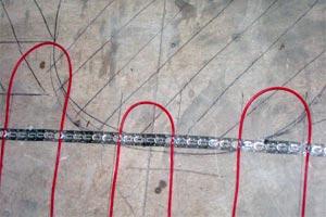 Крепление кабеля к полу