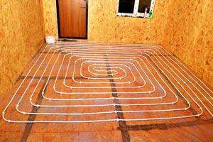 Теплый пол в деревянном доме